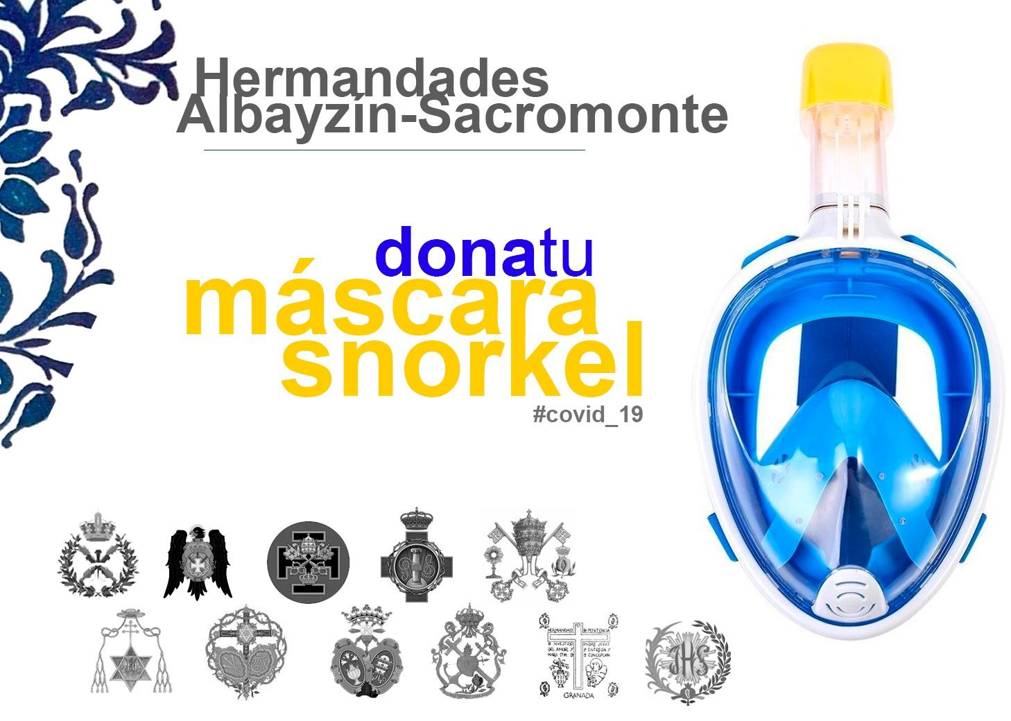 "Hermandades Albayzín-Sacromonte, ""Dona tu Máscara de Snorkel"""