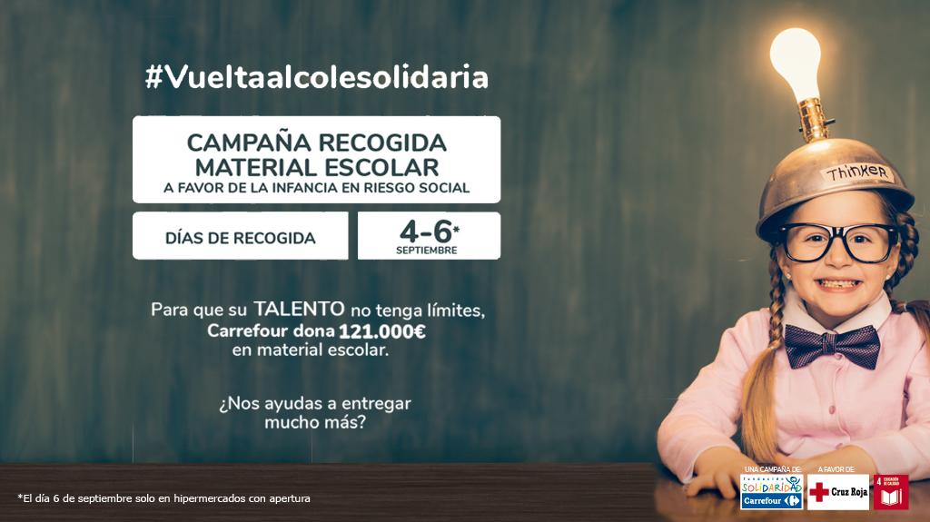 Fundación Solidaridad Carrefour y Cruz Roja ponen en marcha la 'Vuelta al Cole Solidaria' a favor de la infancia en riesgo social de Granada