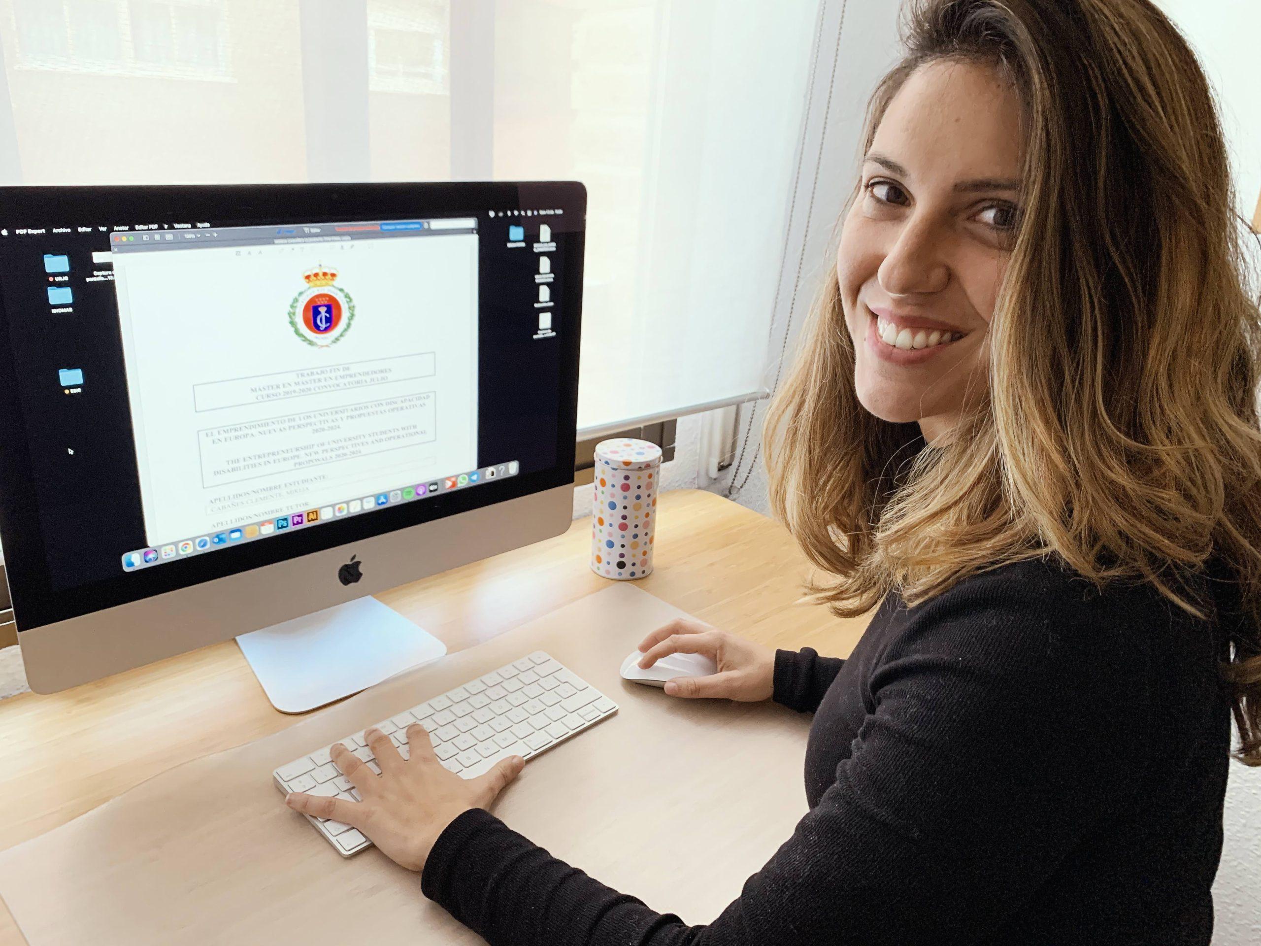 La emprendedora con discapacidad Mireia Cabañes premiada en la 'III Convocatoria de Premios del Consejo Social para Jóvenes Investigadores de la URJC'