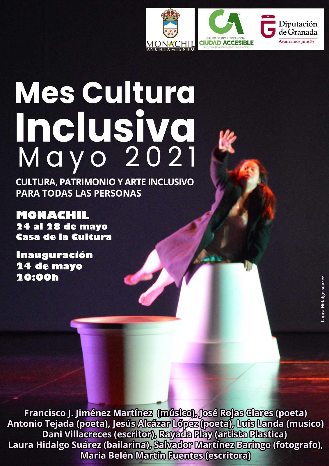 Monachil acoge la segunda parada de la exposición itinerante de los artistas con discapacidad que recorre Granada