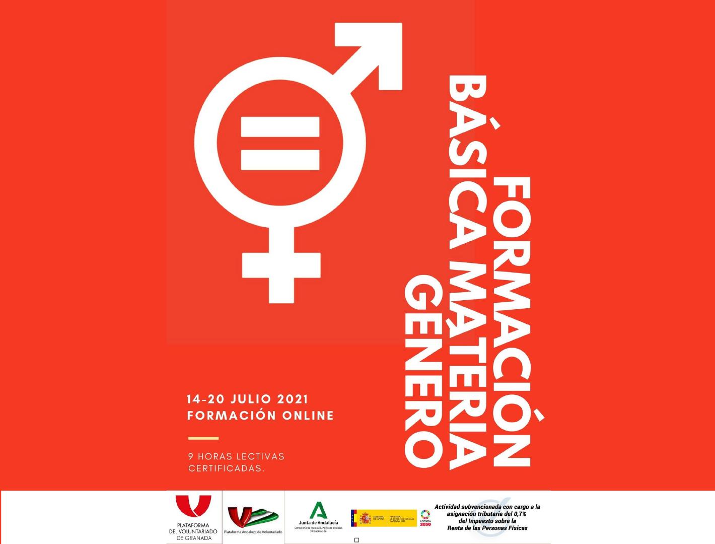 Nueva edición del Curso Online: Formación básica en materia de Género. ¡Abiertas inscripciones!