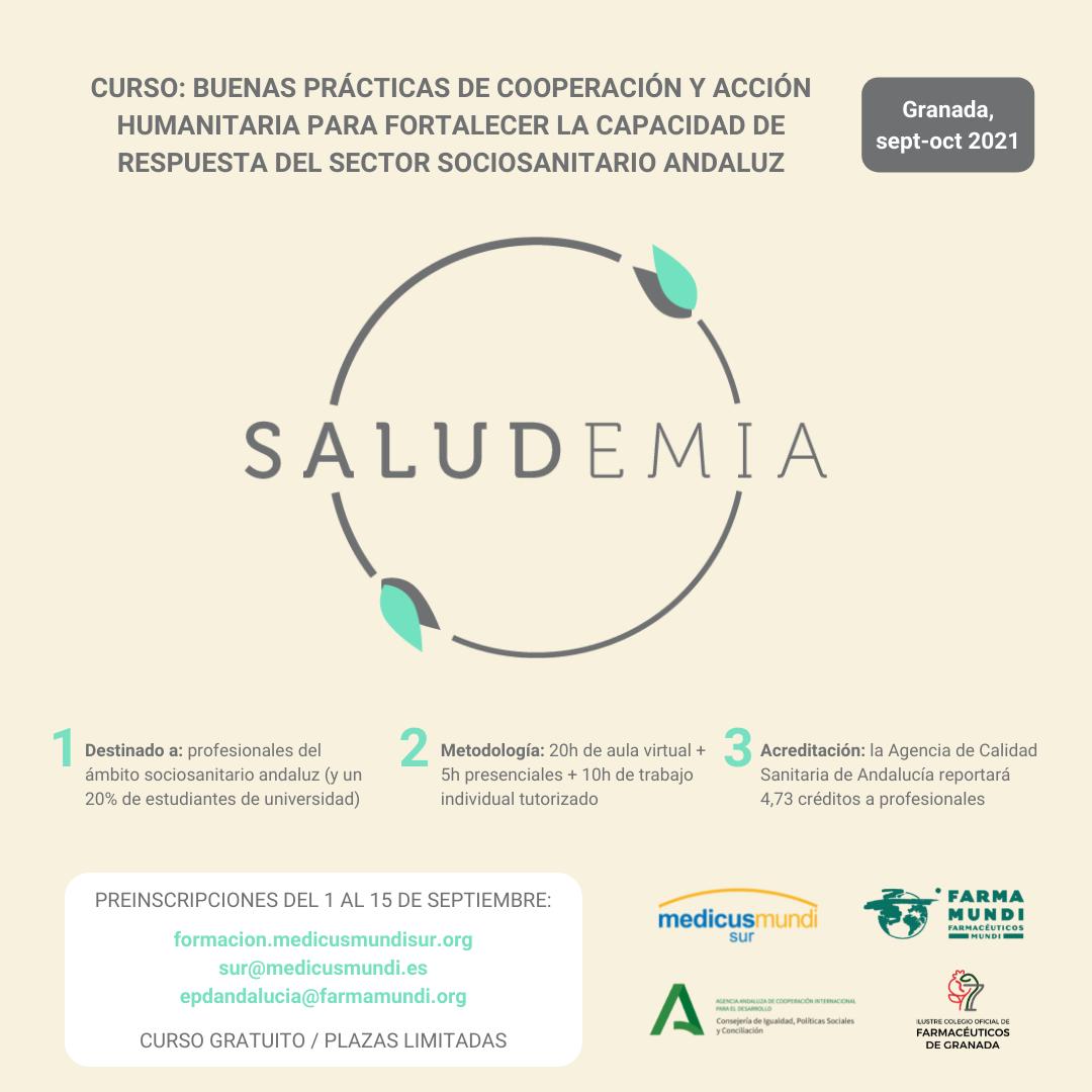 Saludemia, curso dirigido al sector sociosanitario andaluz